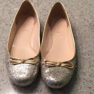 Enzo Angiolini glitter/sparkle flats with bow
